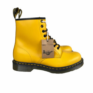 Dr. Martens Womens 1460 Smooth Leather Combat Boots